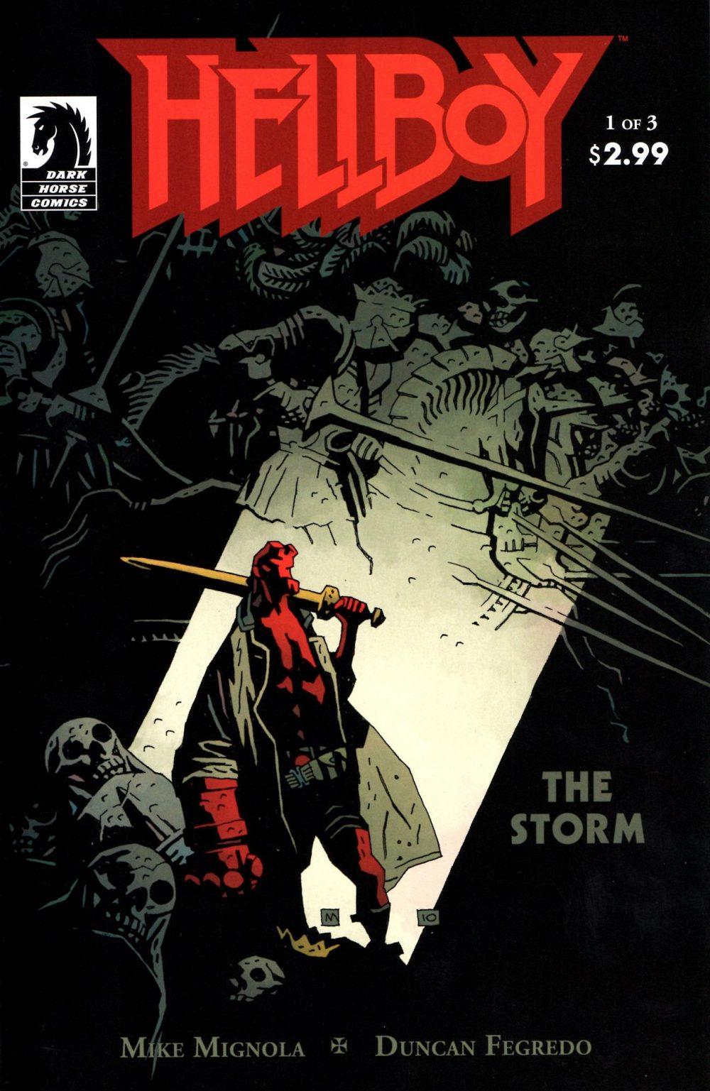 Hellboy: The Storm #3, copertina di Mike Mignola