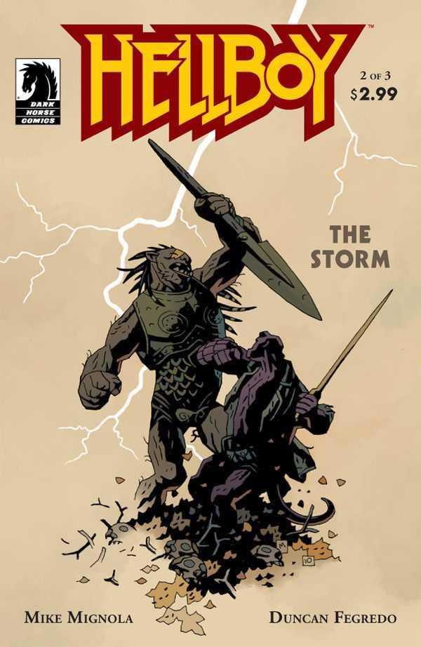 Hellboy: The Storm #2, copertina di Mike Mignola