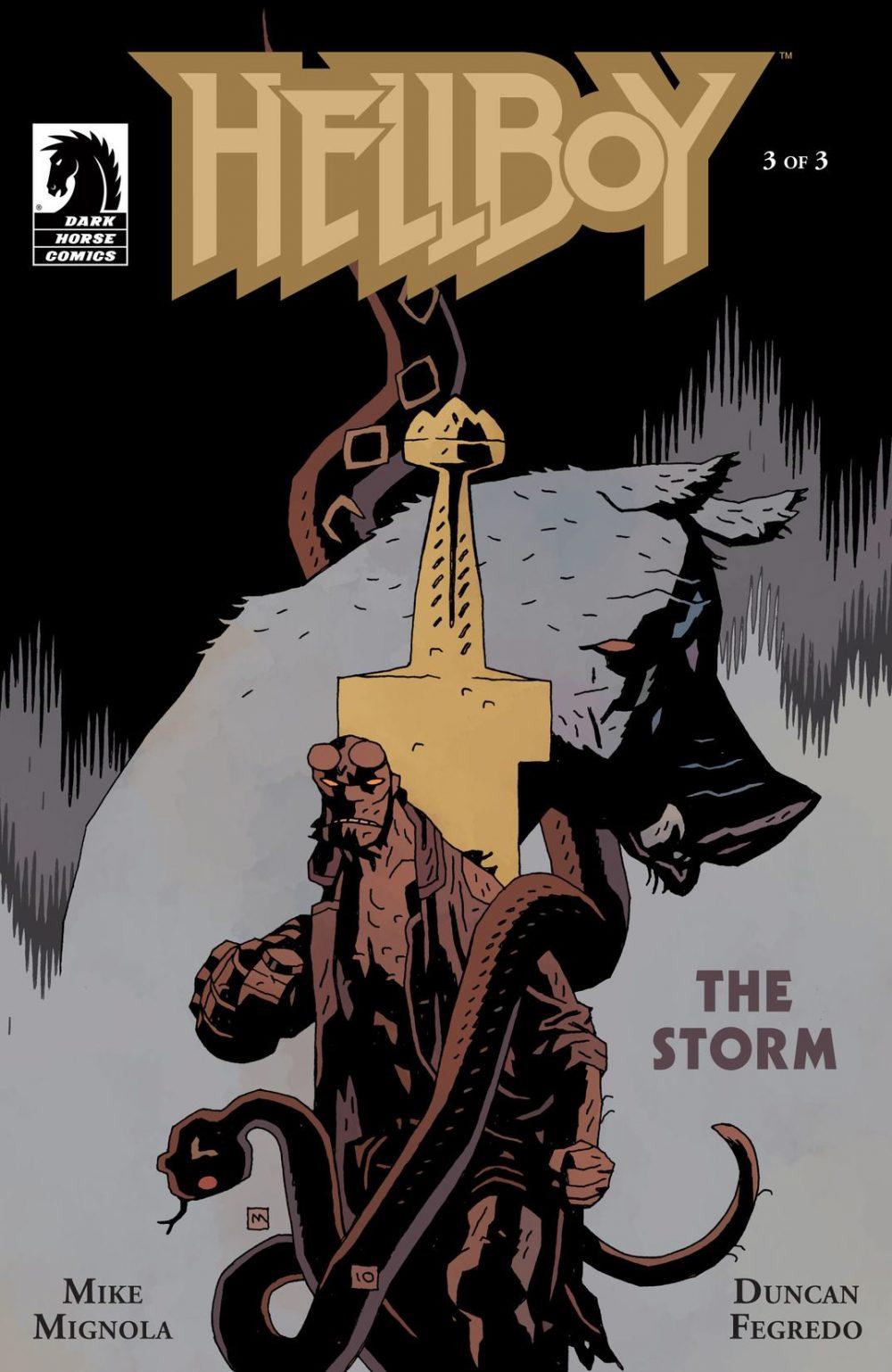 Hellboy: The Storm #1, copertina di Mike Mignola