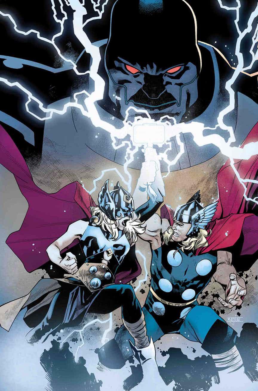 Generations: The Unworthy Thor & The Mighty Thor #1, copertina di Mahmud Asrar