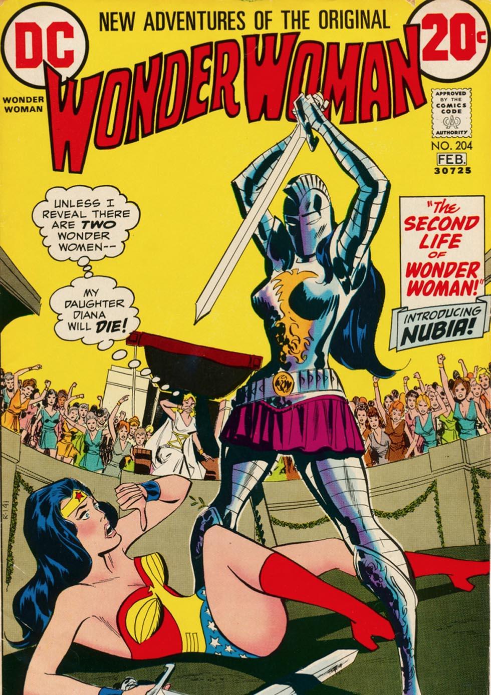 Wonder Woman #204, copertina di Don Heck