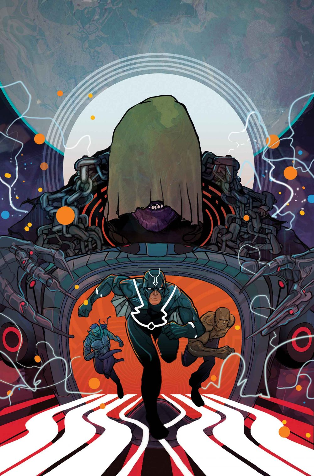 Black Bolt #3, copertina di Christian Ward