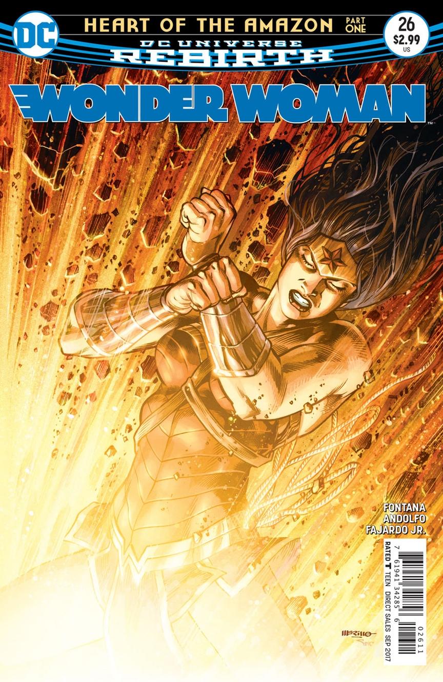Wonder Woman #26, copertina di Jesus Merino