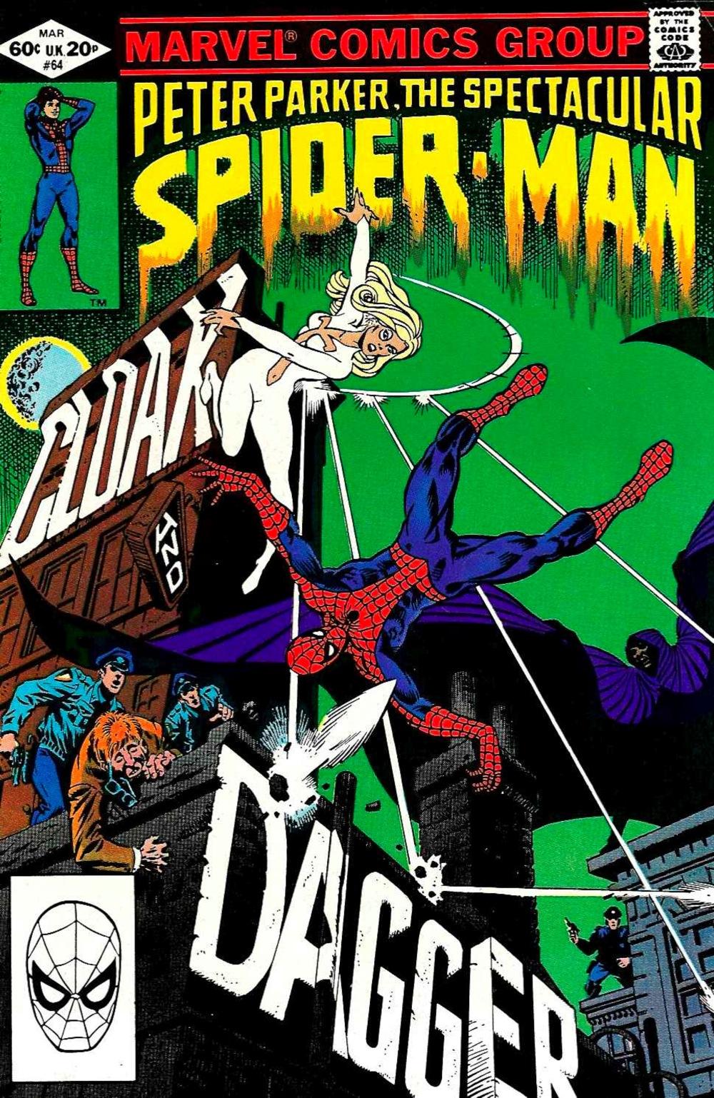 Peter Parker the Spectacular Spider-Man #64, copertina di Bill Mantlo