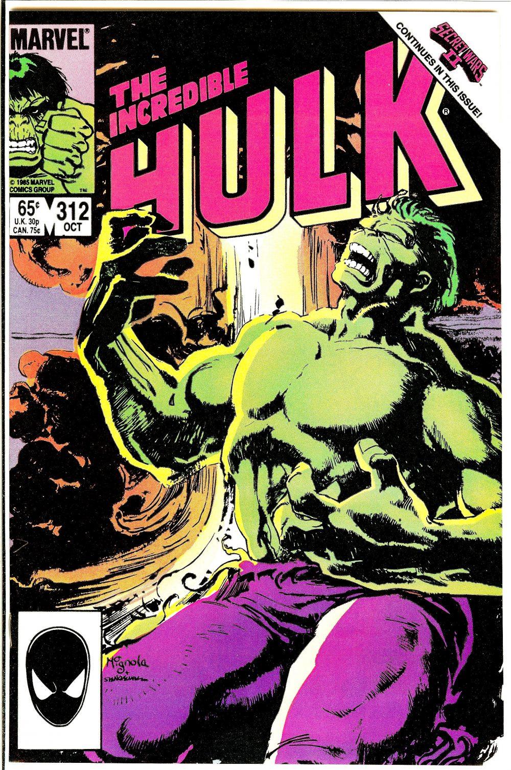 Incredible Hulk #312, copertina di Bill Mantlo