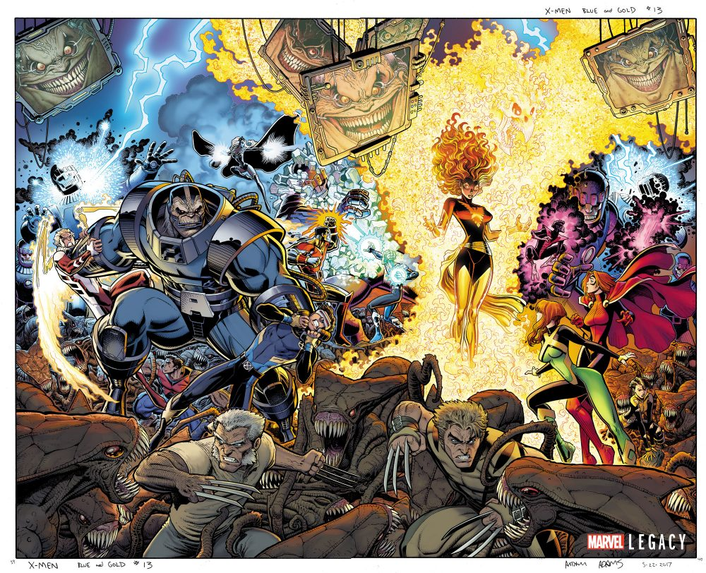 X-Men: Gold #13 - X-Men: Blue #13, copertine di Arthur Adams
