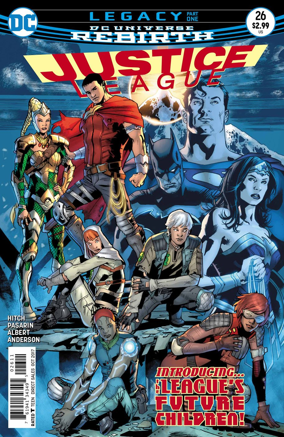 Justice League #26, copertina di Bryan Hitch