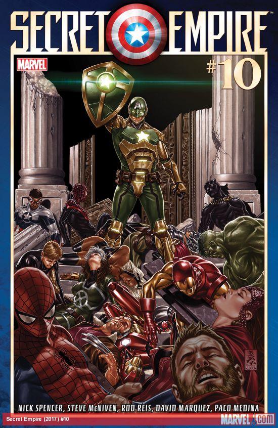 Secret Empire #10, copertina di Mark Brooks