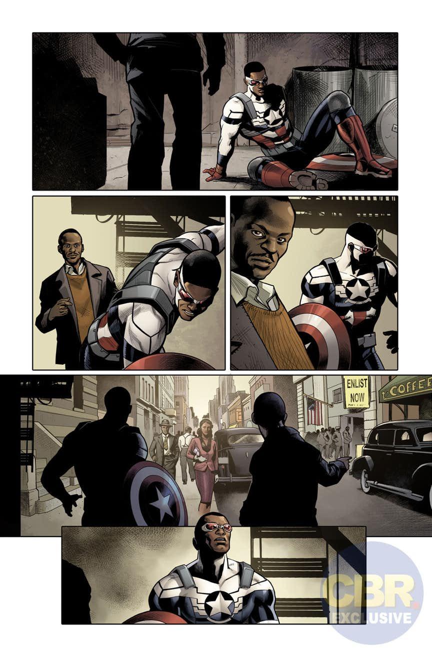 Generations: The Americas - Sam Wilson: Captain America & Steve Rogers: Captain America #1, anteprima 01