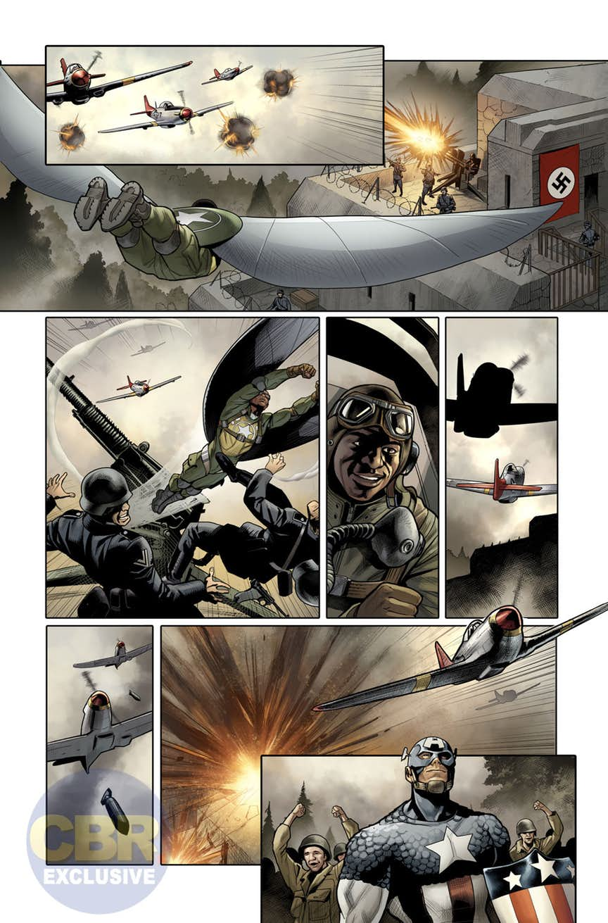 Generations: The Americas - Sam Wilson: Captain America & Steve Rogers: Captain America #1, anteprima 02
