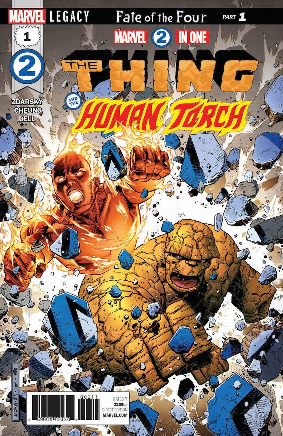 Marvel Two-in-One #1, copertina di Jim Cheung