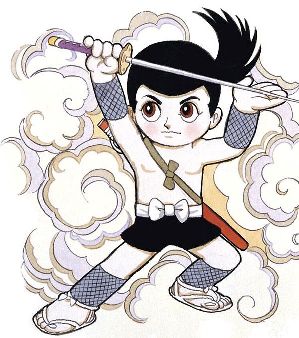Io sono Sasuke Sarutobi, disegno di Osamu Tezuka