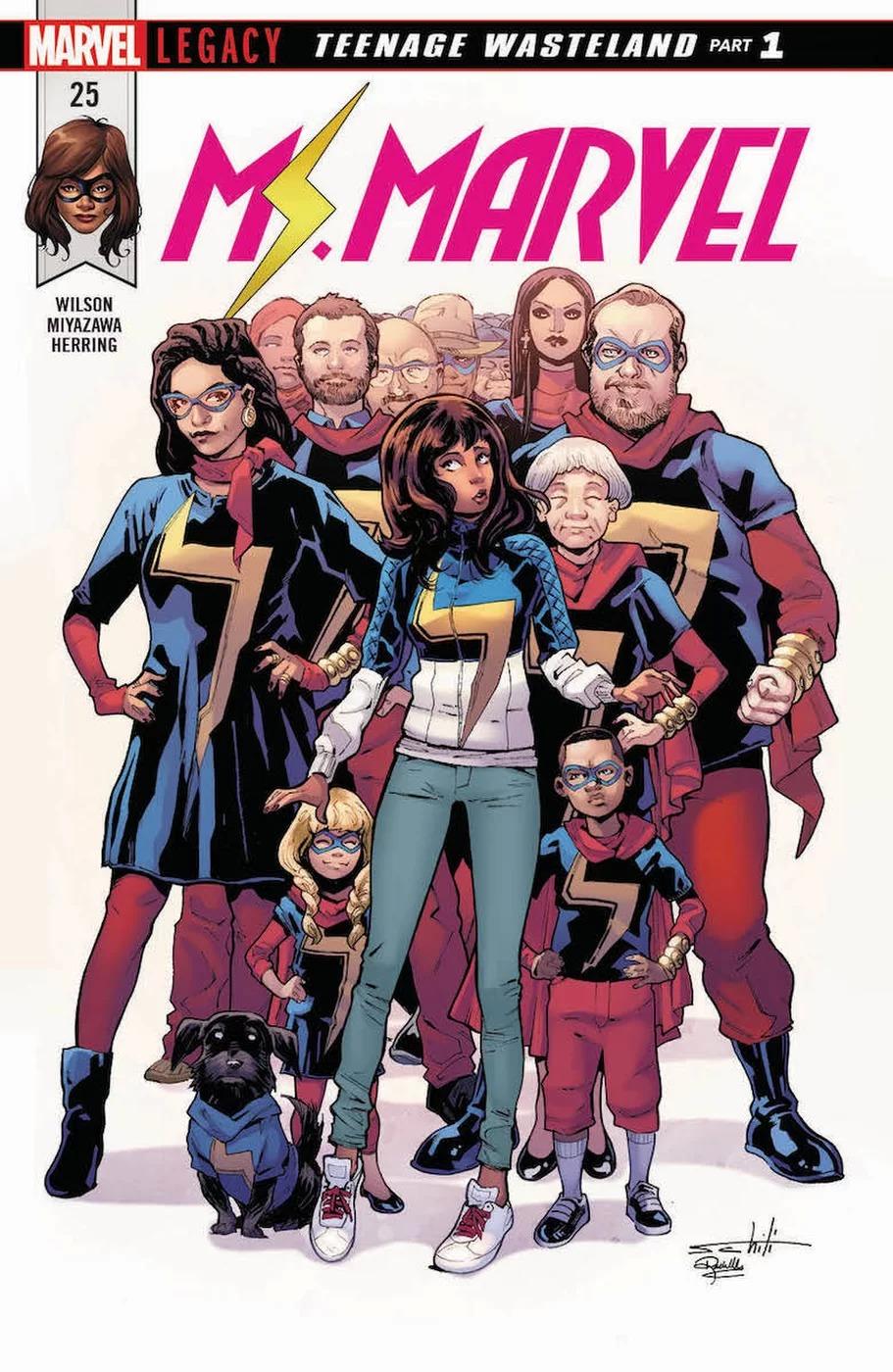 Ms. Marvel #25, copertina di Valerio Schiti