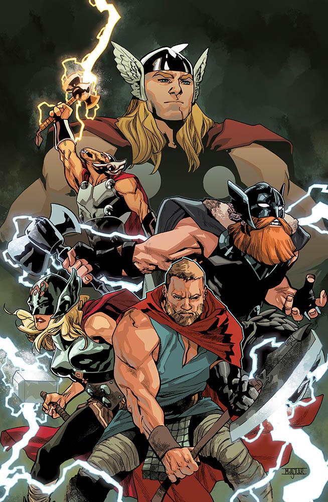 La Potente Thor 19, copertina variant di Mahmud Asrar