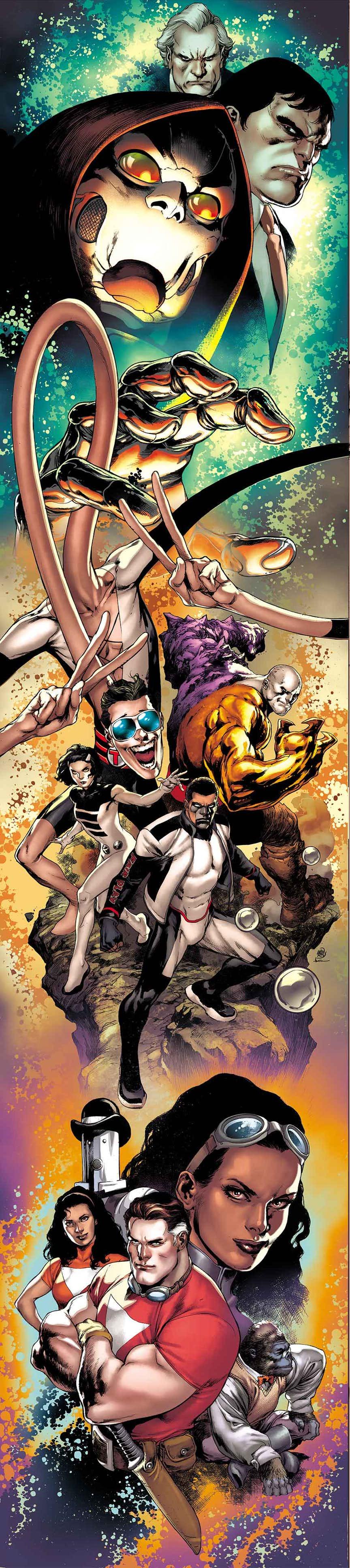 The Terrifics #1, copertina di Ivan Reis