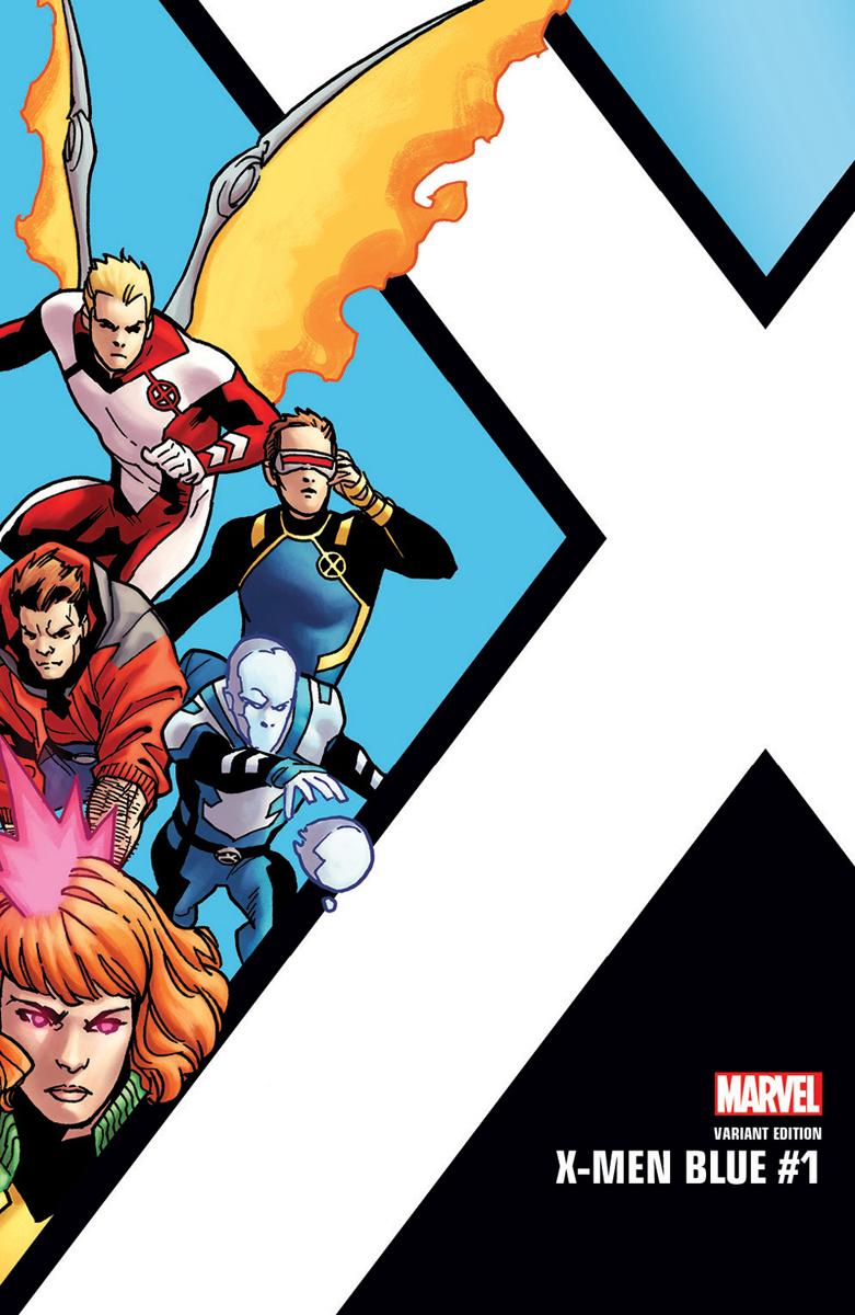 X-Men Blu 1, copertina variant di Leonard Kirk