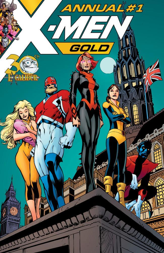 X-Men: Gold Annual #1, copertina di Alan Davis