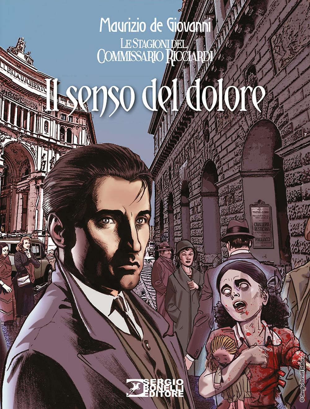 Il Commissario Ricciardi: Il senso del dolore, copertina di Daniele Bigliardo