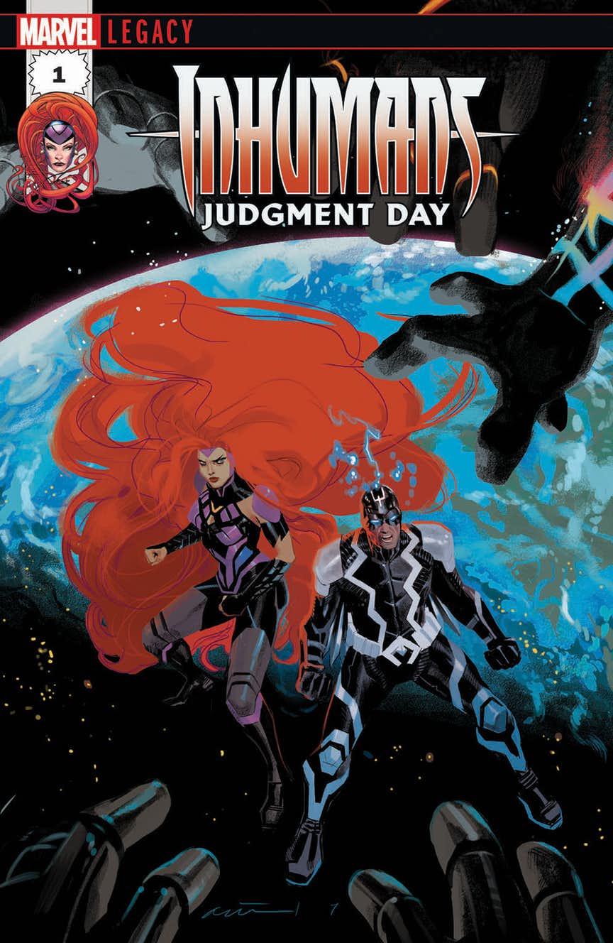 Inhumans: Judgment Day, copertina di Daniel Acuna