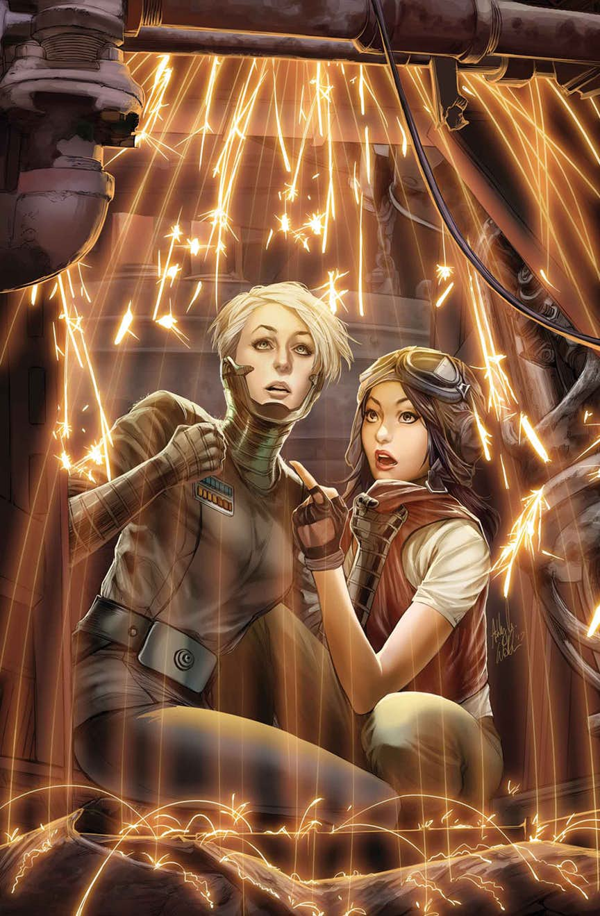 Star Wars: Doctor Aphra #16, copertina di Ashley Witter