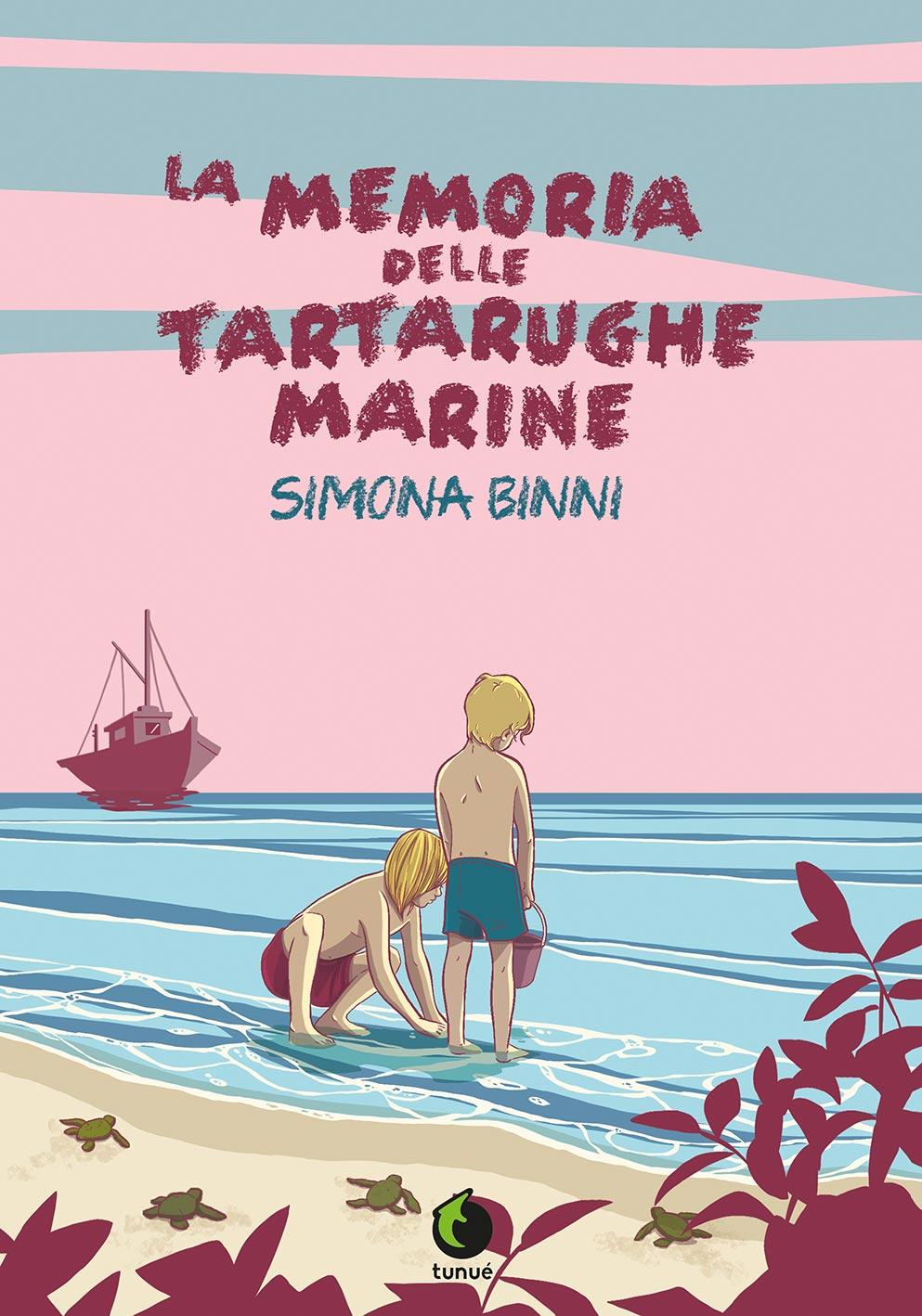La memoria delle tartarughe marine, copertina di Simona Binni