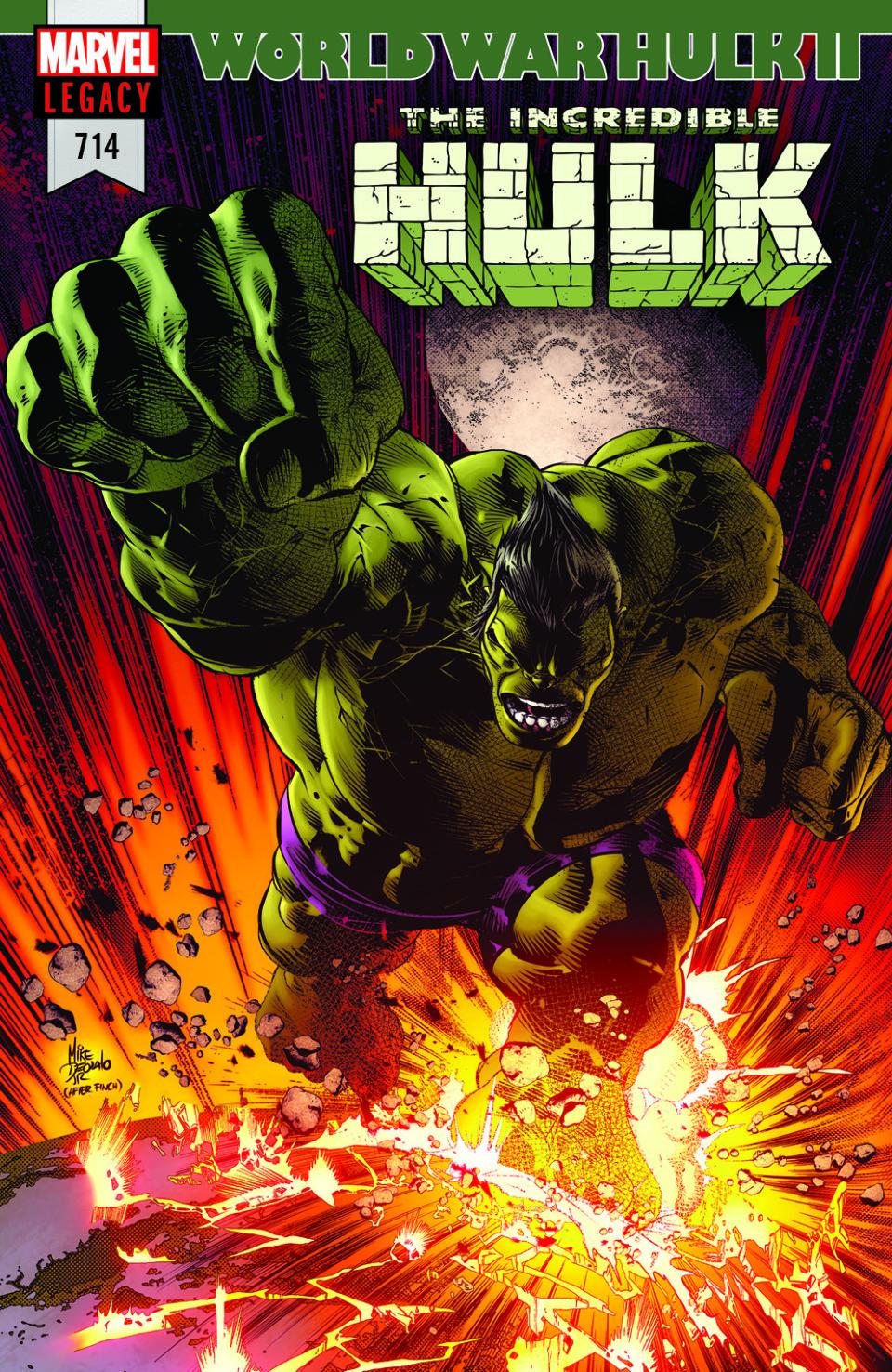 Incredible Hulk #714, copertina di Mike Deodato Jr.