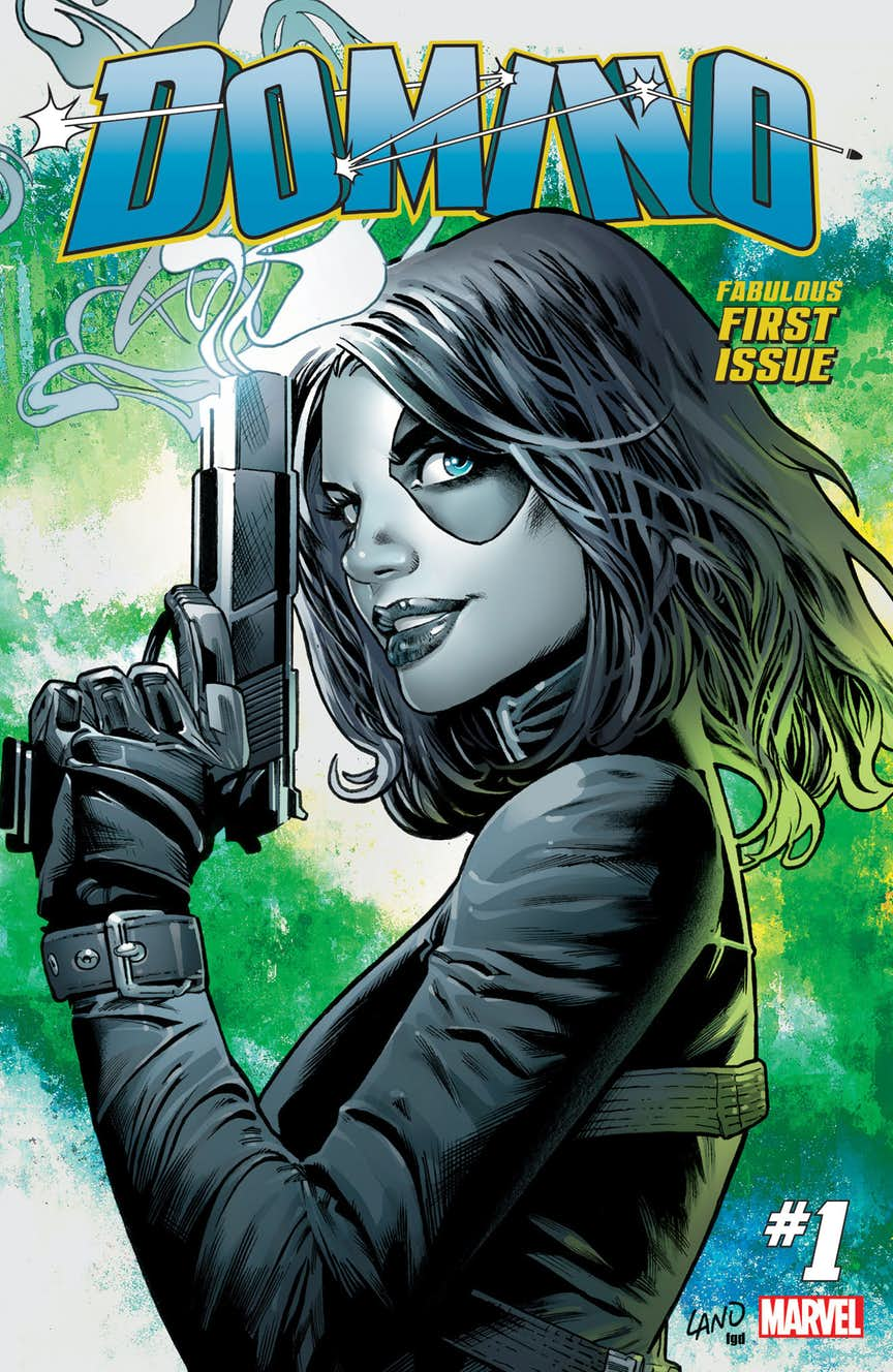 Domino #1, copertina di Greg Land