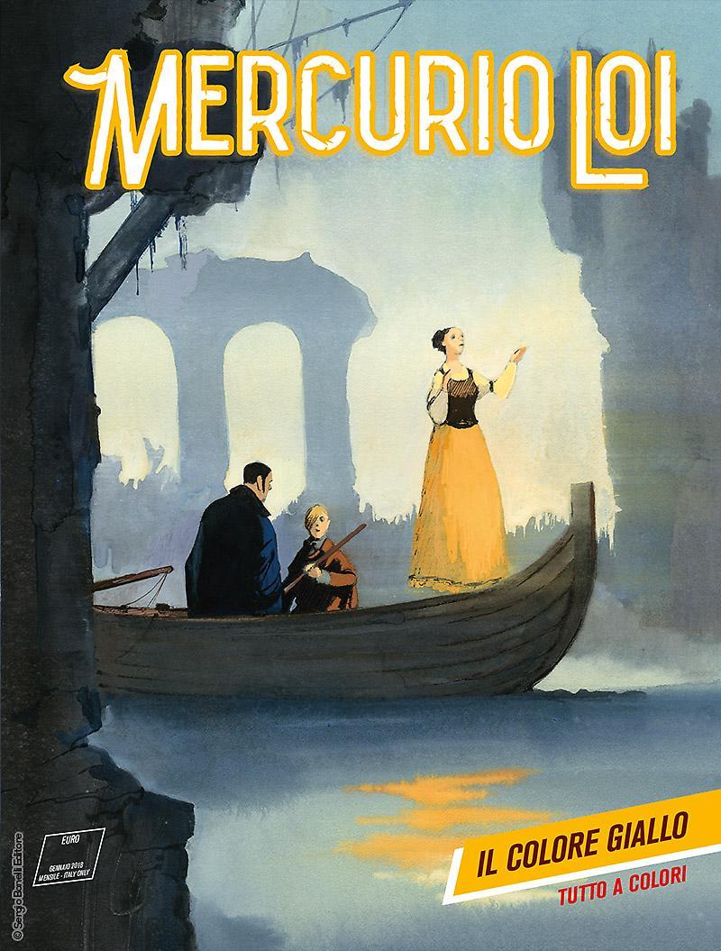 Mercurio Loi 8: Il colore Giallo, copertina di Manuele Fior