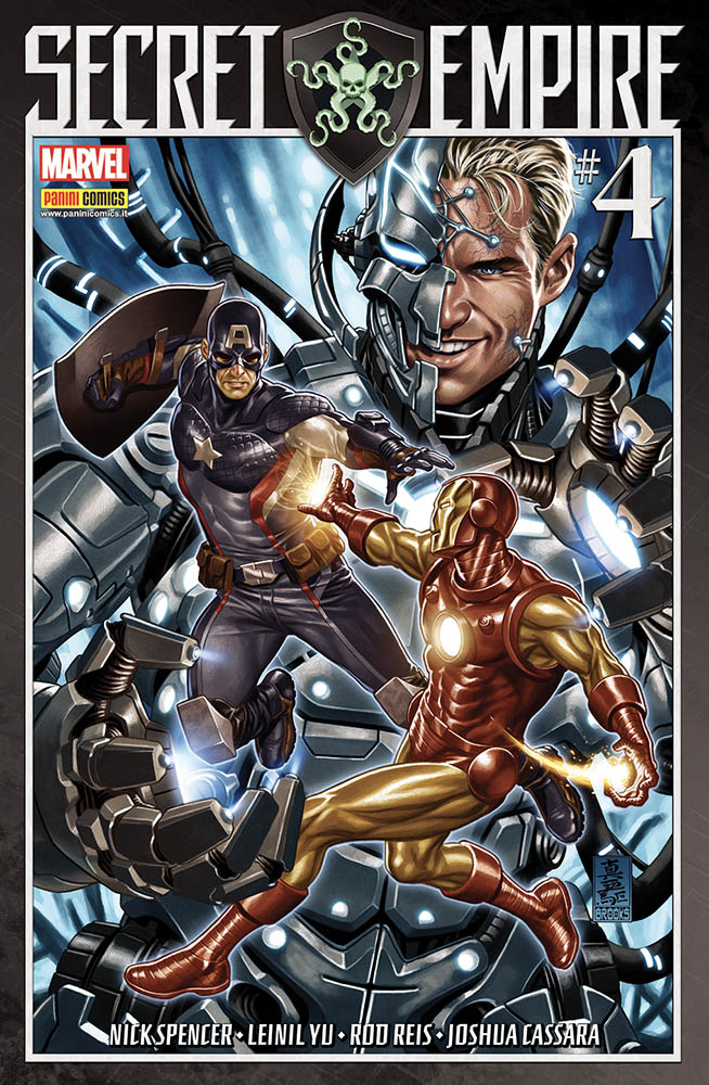 Secret Empire 4, copertina di Mark Brooks