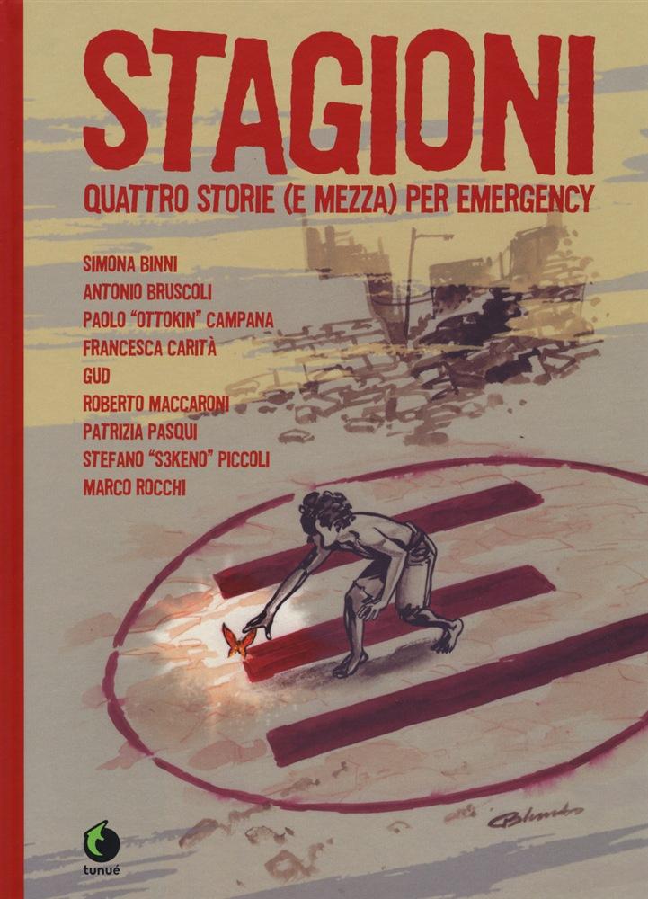 Stagioni: quattro storie (e mezza) per Emergency, copertina di Giuseppe Palumbo