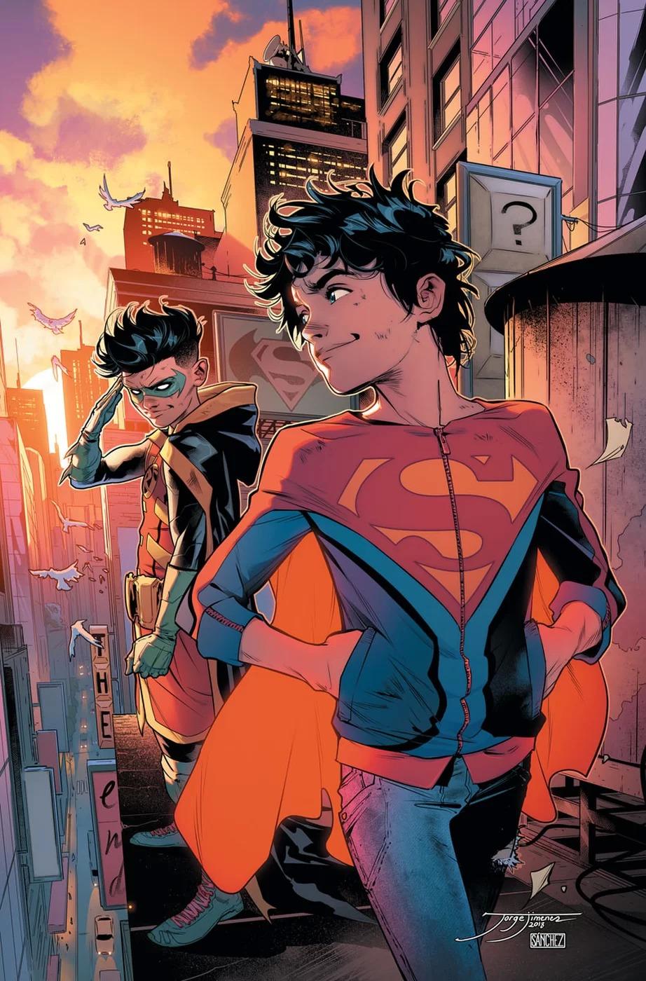 Super Sons #16, copertina di Jorge Jimenez