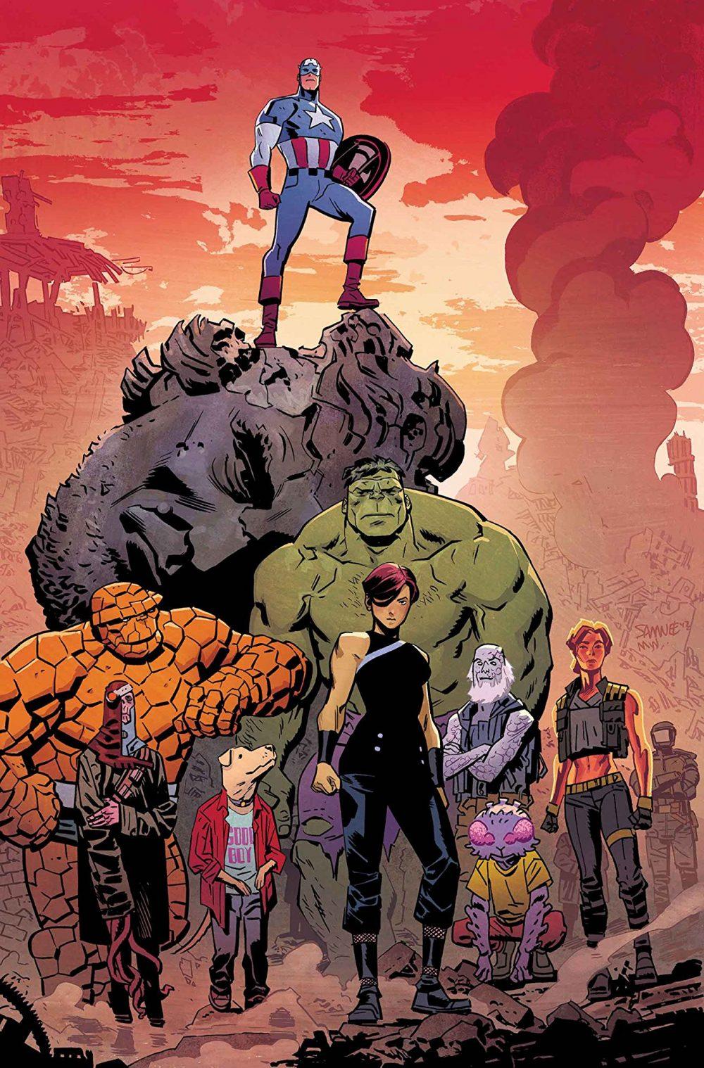 Captain America #700, copertina di Chris Samnee