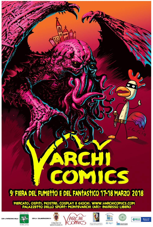 Varchi Comics 2018, locandina di Francesco Biagini e Davide La Rosa