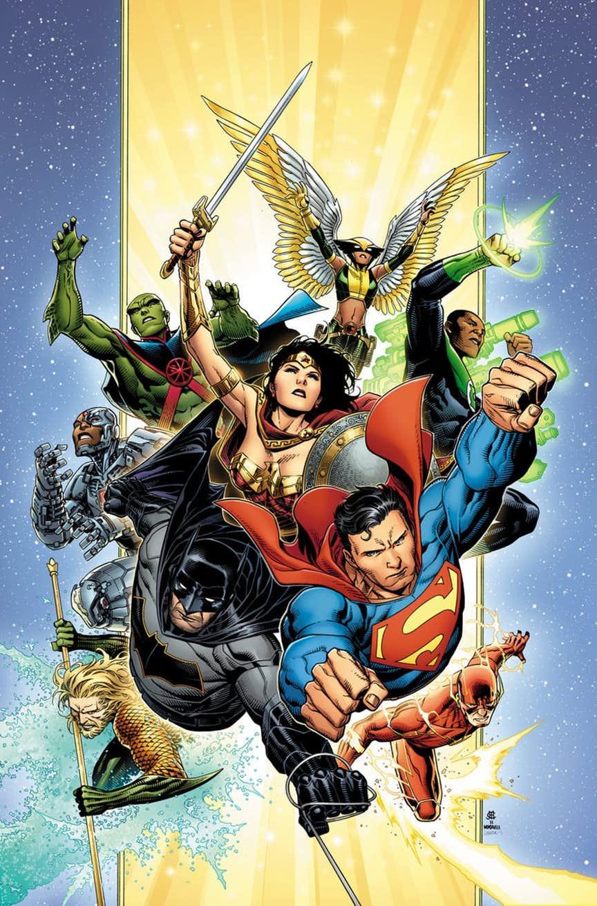 Justice League #1, copertina di Jim Cheung