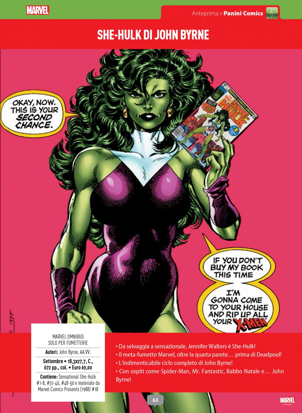 Marvel Omnibus - She-Hulk di John Byrne su Anteprima