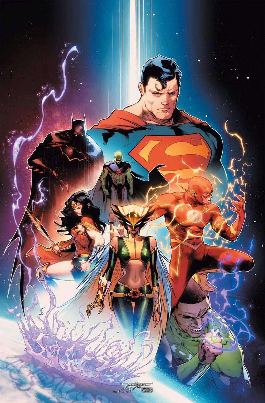 Justice League #2, copertina di Jorge Jimenez