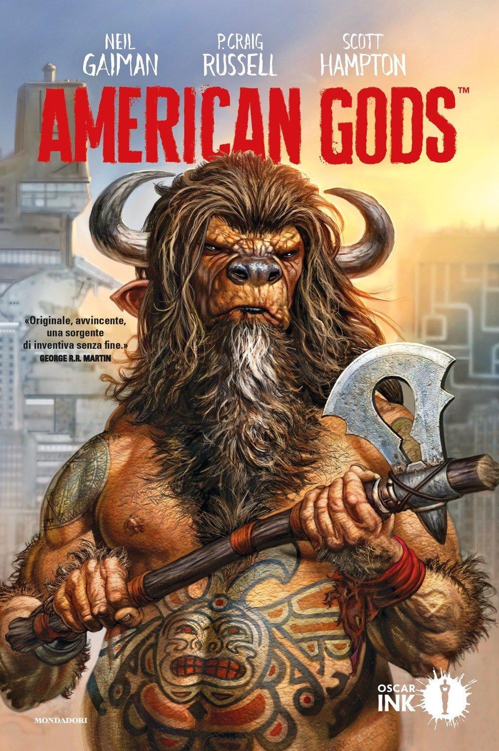 American Gods vol. 1: Ombre, copertina di Glenn Fabry