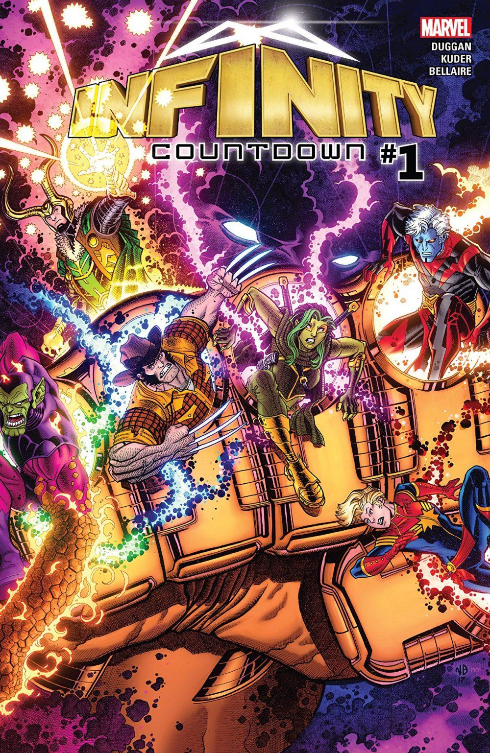 Infinity Countdown #1, copertina di Nick Bradshaw