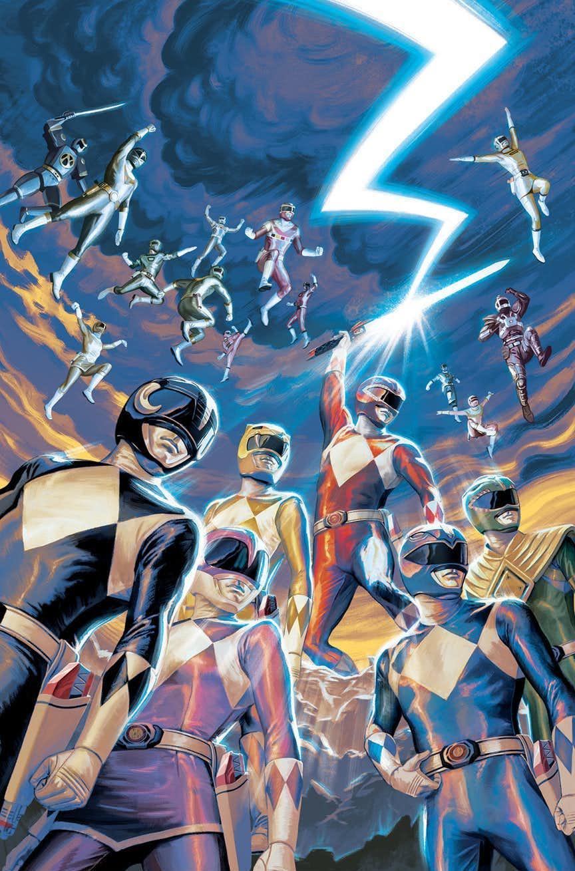 Mighty Morphin Power Rangers Anniversary Special #1, copertina di Steve Morris
