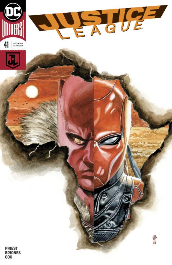 Justice League #41, copertina di J.G. Jones