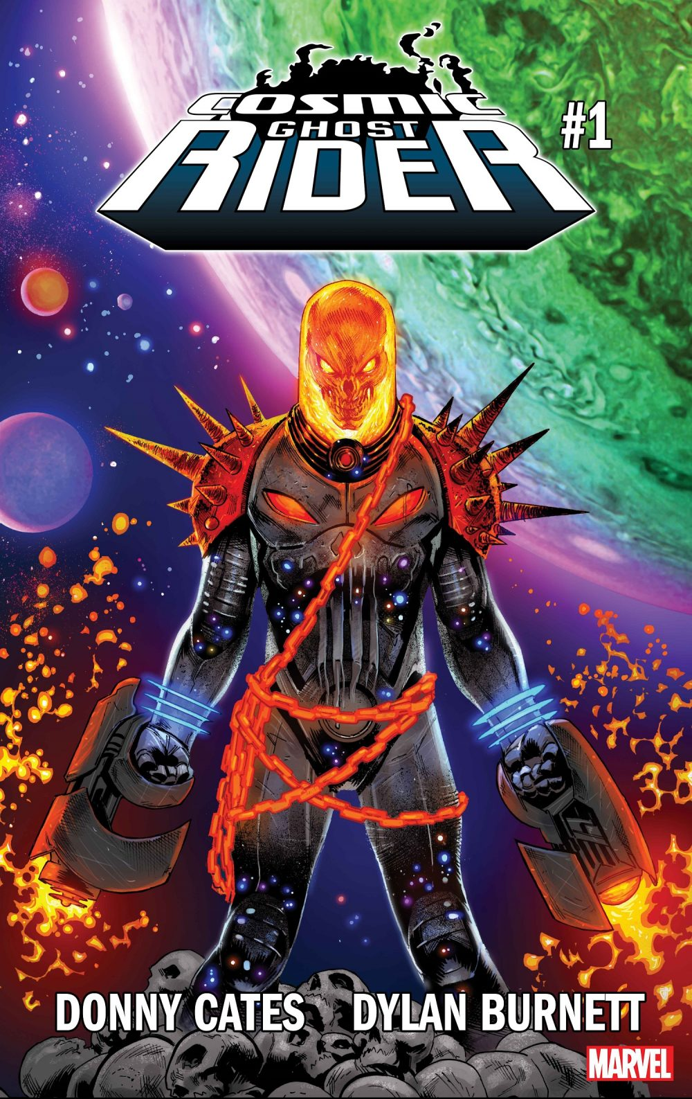 Cosmic Ghost Rider #1, copertina di Geoff Shaw