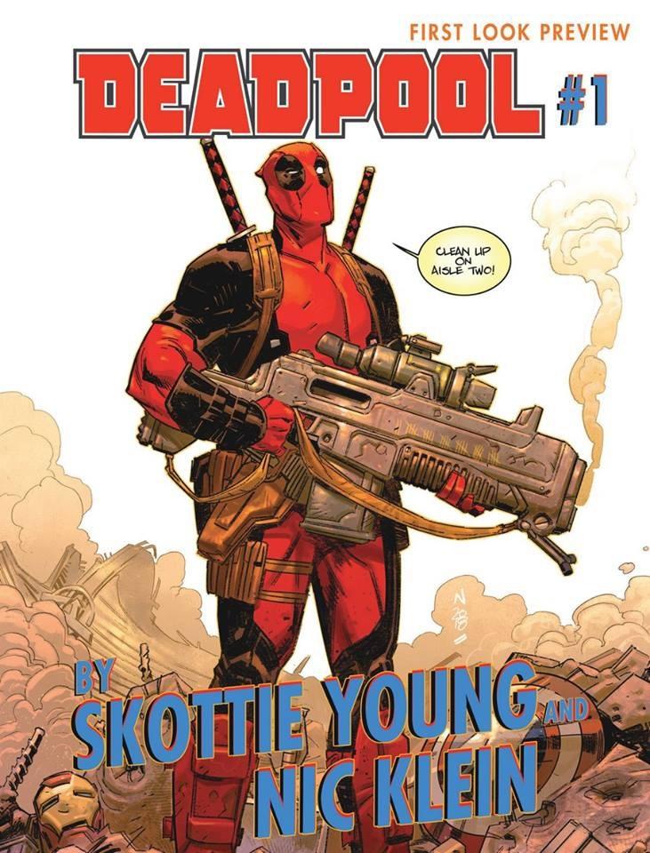 Deadpool #1, copertina di Nic Klein