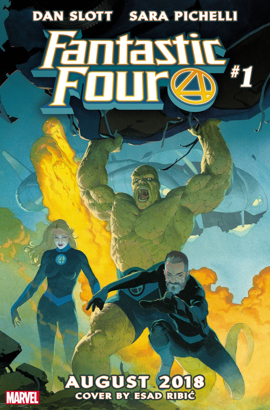 Fantastic Four #1, variant cover di Esad Ribic