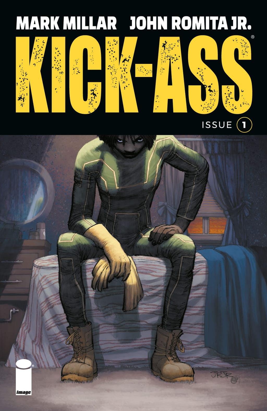 Kick-Ass #1, copertina di John Romita Jr. e Peter Steigerwald