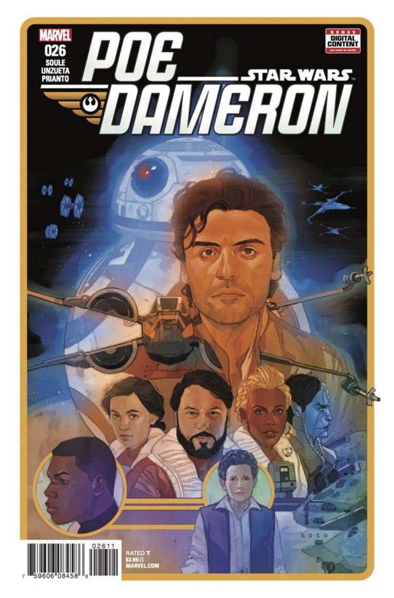Poe Dameron #26, copertina di Phil Noto