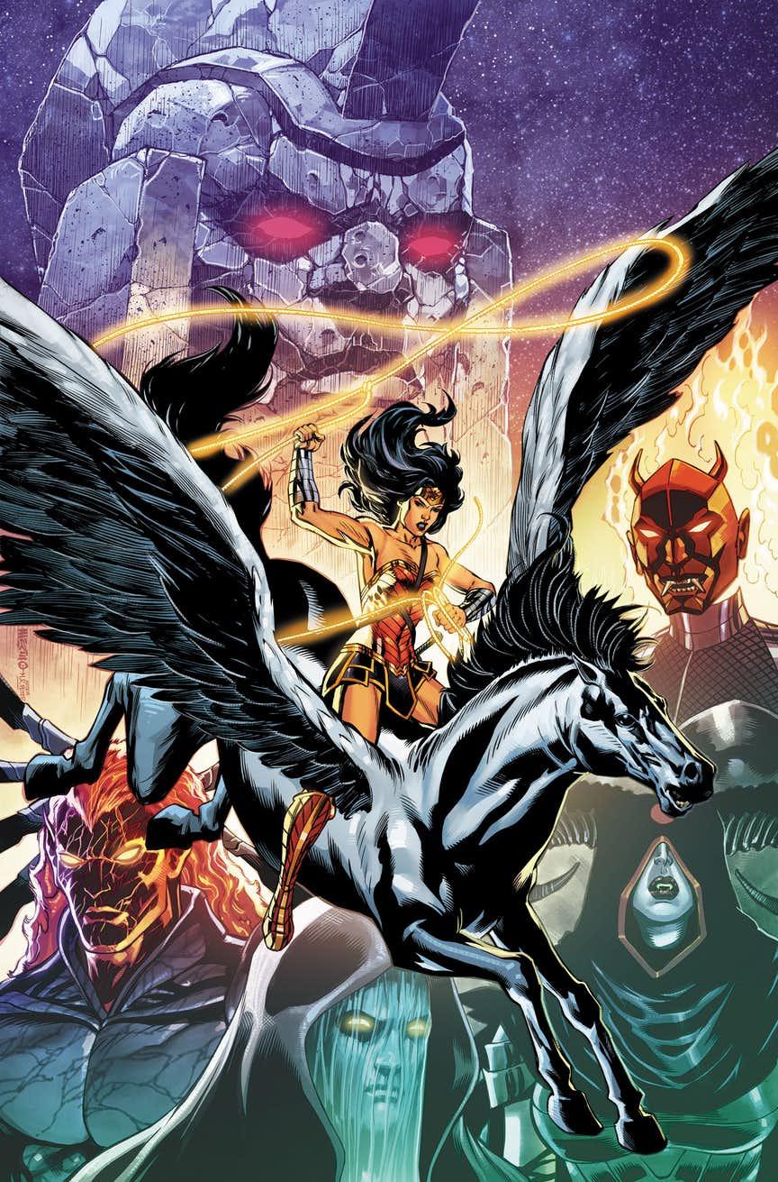 Wonder Woman #50, copertina di Jesus Merino