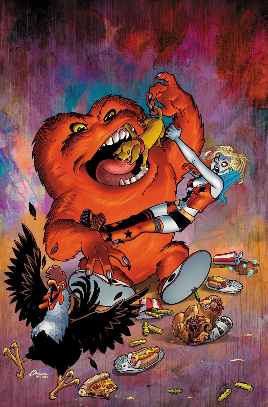 Harley Quinn/Gossamer Special #1, copertina di Amanda Conner