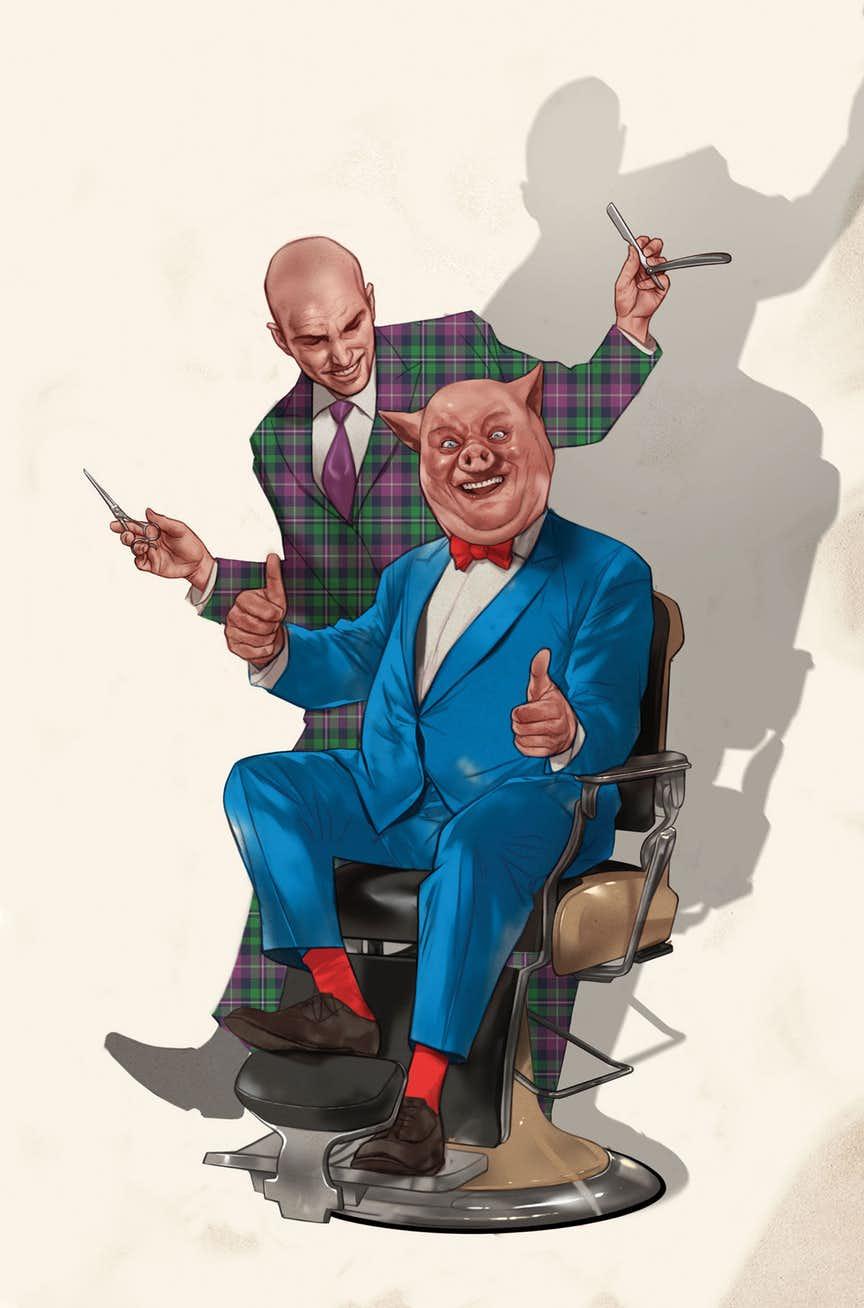 Lex Luthor/Porky Pig Special #1, copertina di Ben Oliver