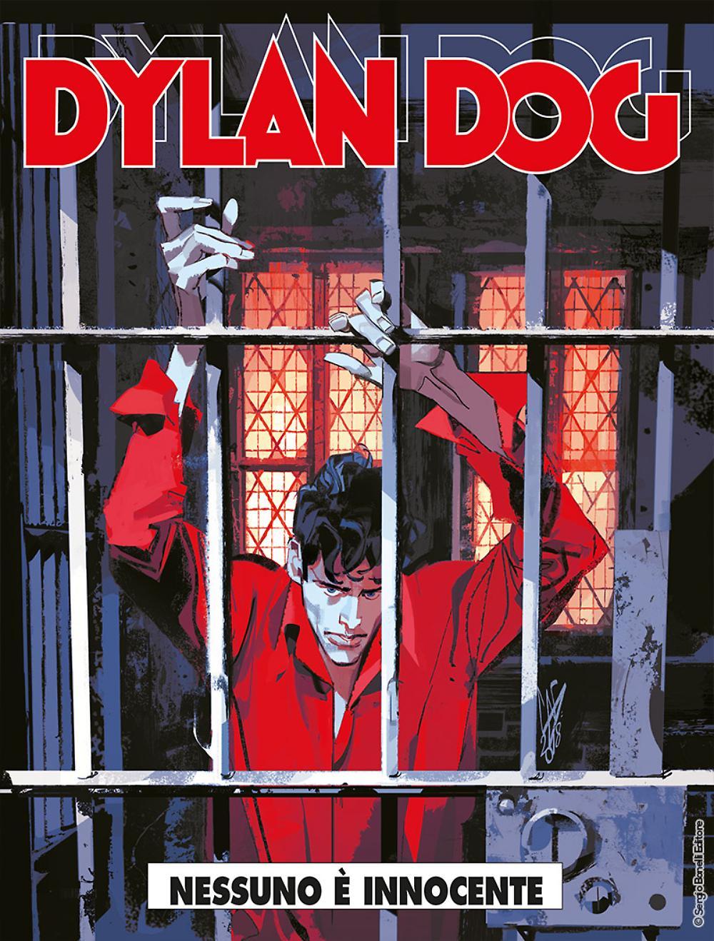 Dylan Dog 380: Nessuno è innocente, copertina di Gigi Cavenago