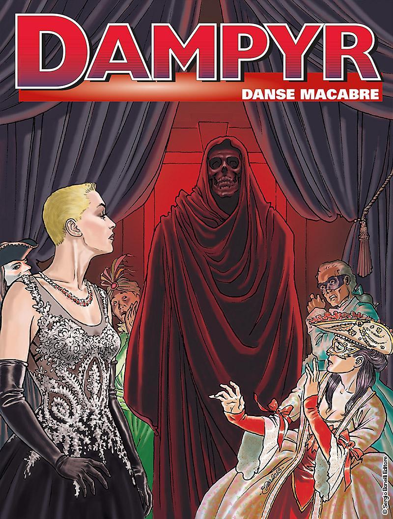 Dampyr 218: Danse Macabre, copertina di Enea Riboldi